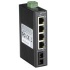 Hardened Mini Industrial Switch,  (4) 10-/100-Mbps Copper + (1) 100-Mbps Fiber, Single-Mode, SC, 20 km