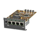 4-Port Twisted Pair Module for Modular Fiber Switches, 10-/100-Mbps RJ-45