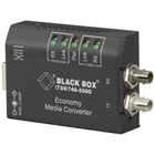 Crossover Media Converter, 10-Mbps, 10BASE-T/Fiber, Multimode ST with Link Pass-Through