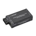 Industrial MultiPower Miniature Media Converter, 10-/100-/1000-Mbps Copper to 1000-Mbps Fiber Duplex, Multimode, 850-nm, 300 m