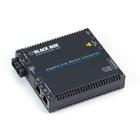 Gigabit PoE Media Converter - 10/100/1000BASE-T to 1310-nm Single-Mode, SC, 15 km