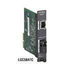 High-Density Media Converter System II Gigabit Module, 1000BASE-TX to 1000BASE-SSLX Single-Strand, 1550-nm TX/1310-nm RX, 15 km, SC