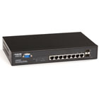 PoE L2 Managed Gigabit Switch with (6) 1000BASE-TX Ports, (2) Dual-Media RJ-45/SFP Ports