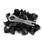 LockPORT Secure Port Locks, Black, 25-Pack