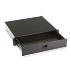 Rackmount Media Storage Drawer, 2U, Black