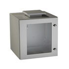 ClimateCab NEMA 12 Wallmount Cabinet with Fan - Beige, Double-Hinged