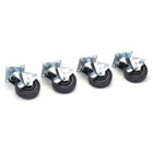 Shock-Isolated Equipment Rack Casters