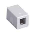 Black Box Connect RJ-45 Surface-Mount Housing - White, 1-Port