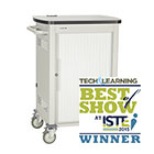 30-Device iPad, Chromebook, Tablet, and Laptop Cart - Single Frame with Medium Slots and Sliding Door