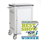 18-Device iPad, Chromebook, Tablet and Laptop Cart - Single Frame with Large Slots and Sliding Door
