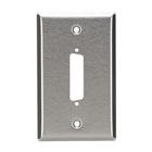 Stainless Steel Wallplate, DB25, Single-Width, 1-Punch