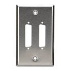 Stainless Steel Wallplate, DB25, Single-Width, 2-Punch