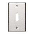 Stainless Steel Wallplate, DB15, Single-Width, 1-Punch
