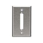 Stainless Steel Wallplate, DB37, Single-Width, 1-Punch