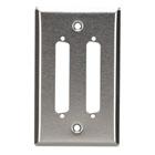 Stainless Steel Wallplate, DB37, Single-Width, 2-Punch