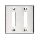 Stainless Steel Wallplate, DB37, Double-Width, 2-Punch