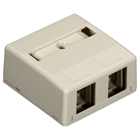 Surface-Mount Housing - 2-Port, Office White