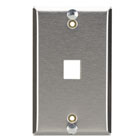 Stainless Steel Wallplate, Keystone, For Mounting Wall-Style Telephone