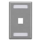 GigaStation Wallplate, 1-Port, Single-Gang, Gray