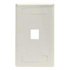 GigaStation Wallplate, 1-Port, Single-Gang, Office White