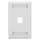 GigaStation Wallplate, 1-Port, Single-Gang, White