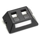 Modular Furniture Faceplate for Steelcase, Haworth, HON, and Knoll Furniture, 2-Port, Black
