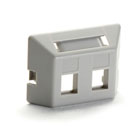 Modular Furniture Faceplate for Steelcase, Haworth, HON, and Knoll Furniture, 2-Port, Gray