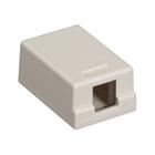 GigaStation Plus Surface Mount Box, Office White, 1-Port