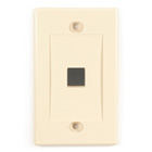 Black Box Connect Wallplate - Single-Gang, Ivory, 1-Port, 10-Pack