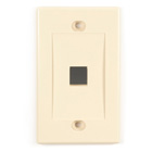 Black Box Connect Wallplate - Single-Gang, Ivory, 1-Port, 25-Pack