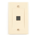Black Box Connect Wallplate - Single-Gang, Ivory, 1-Port, 5-Pack