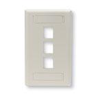 GigaStation2 Wallplate, 3-Port Single-Gang, Office White