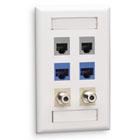 GigaStation2 Wallplate, 6-Port Single-Gang, White