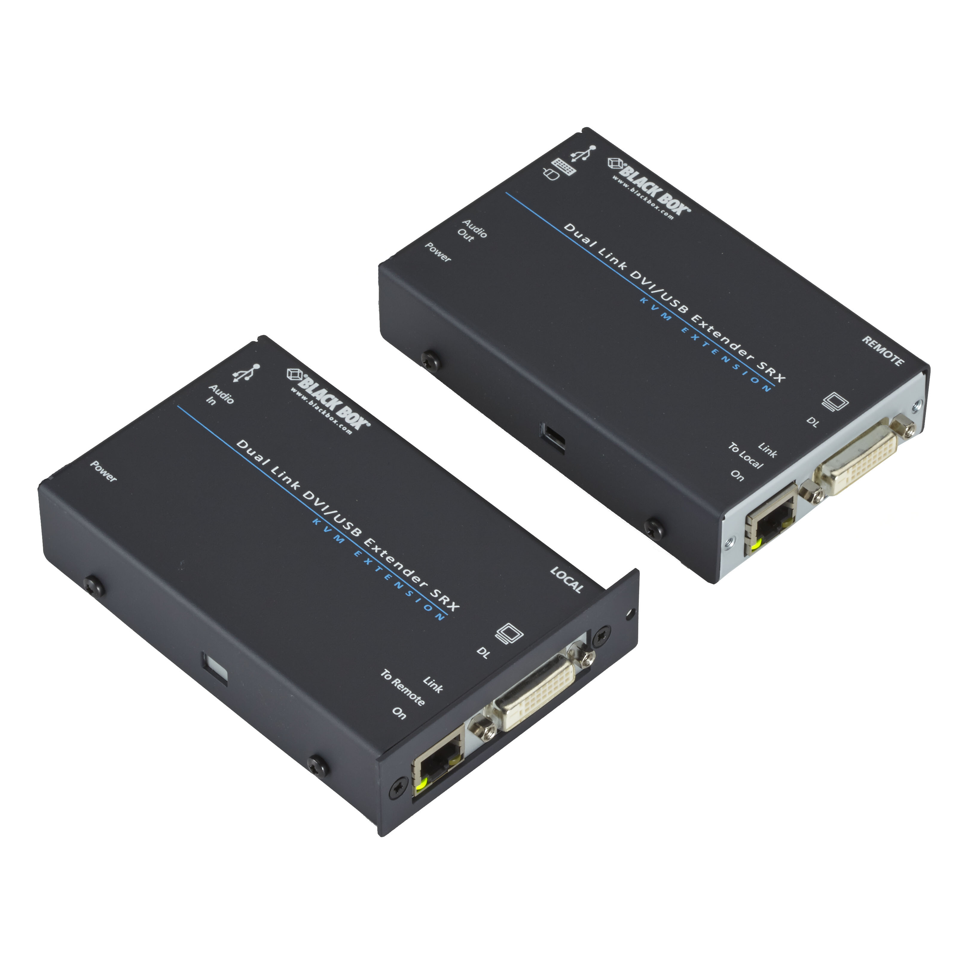 Kvm Extender Dual Link Dvi D Usb Hid Catx Single Access Black Box Barel Rj45 Double Female To Acu5520a