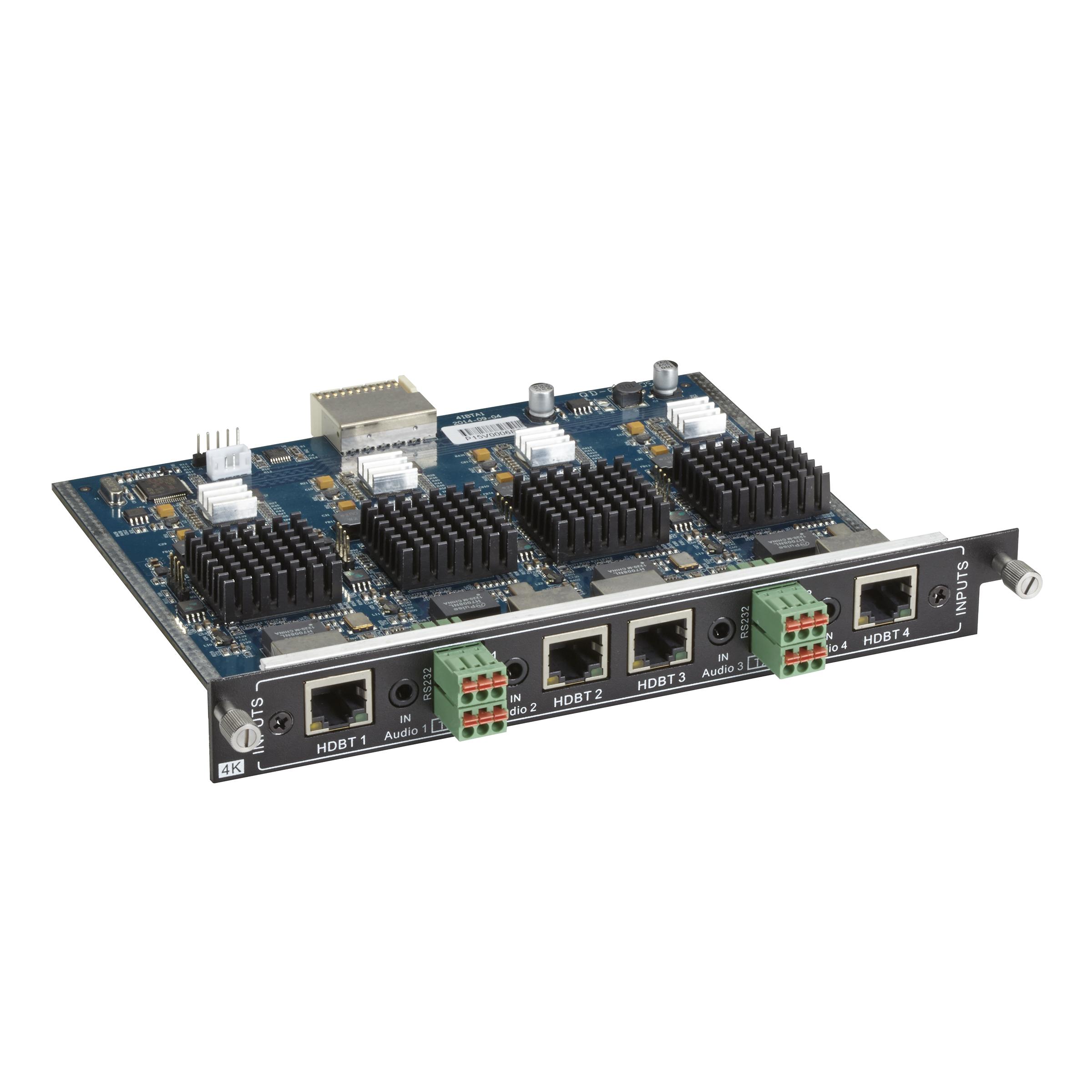 Modular Video Matrix Switcher Input Card - 4K, RJ-45, Analog Audio, RS-232