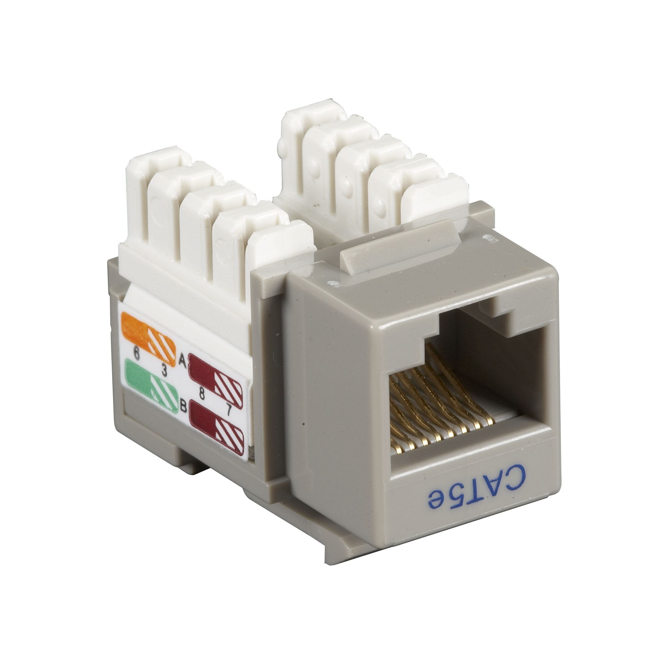 Black Box Connect CAT5e RJ-45 Keystone Jack - Unshielded, Gray