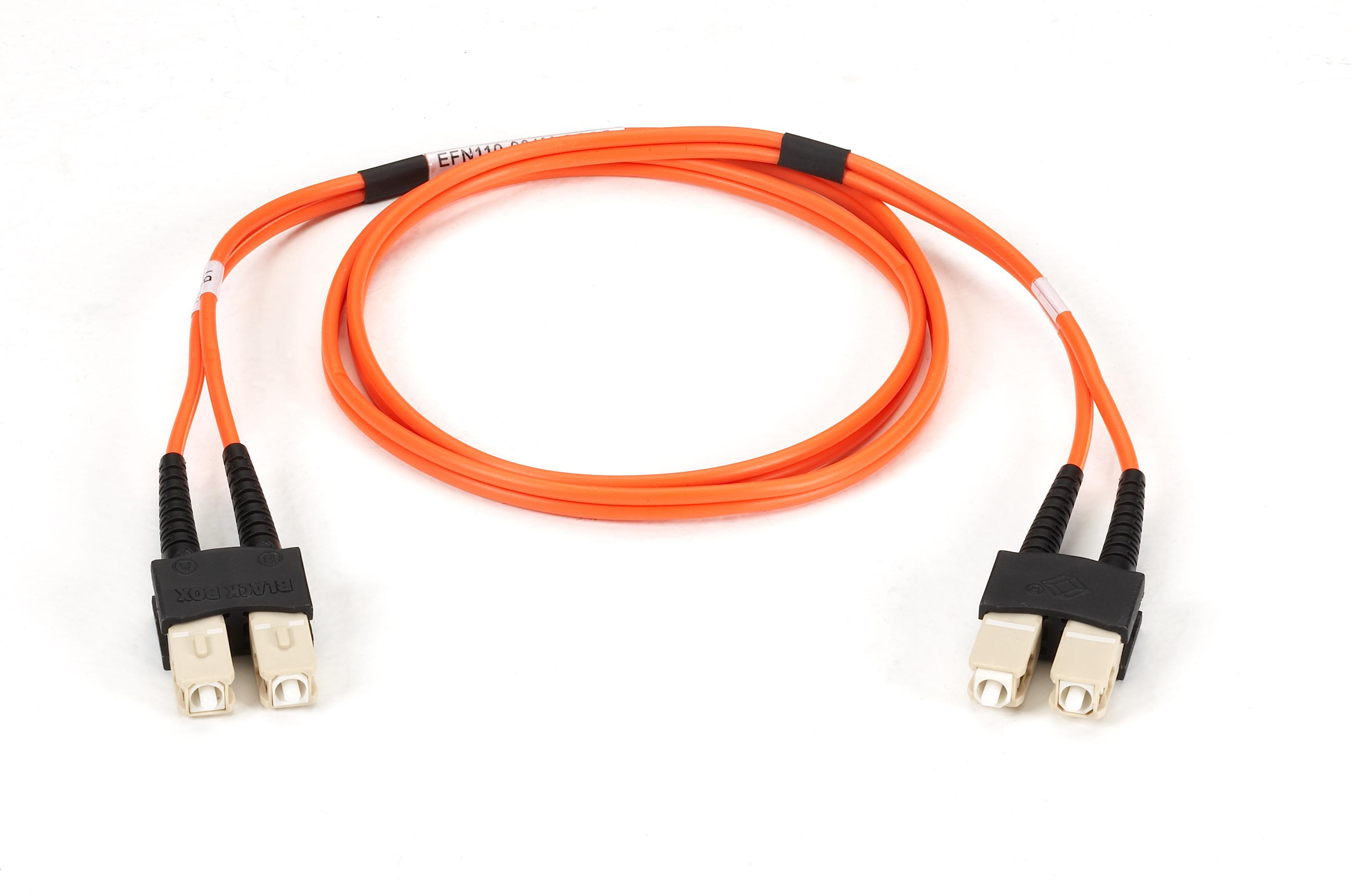 1m 32ft scsc or om1 mm fiber patch cable indr zip ofnr black box additional product image sciox Images