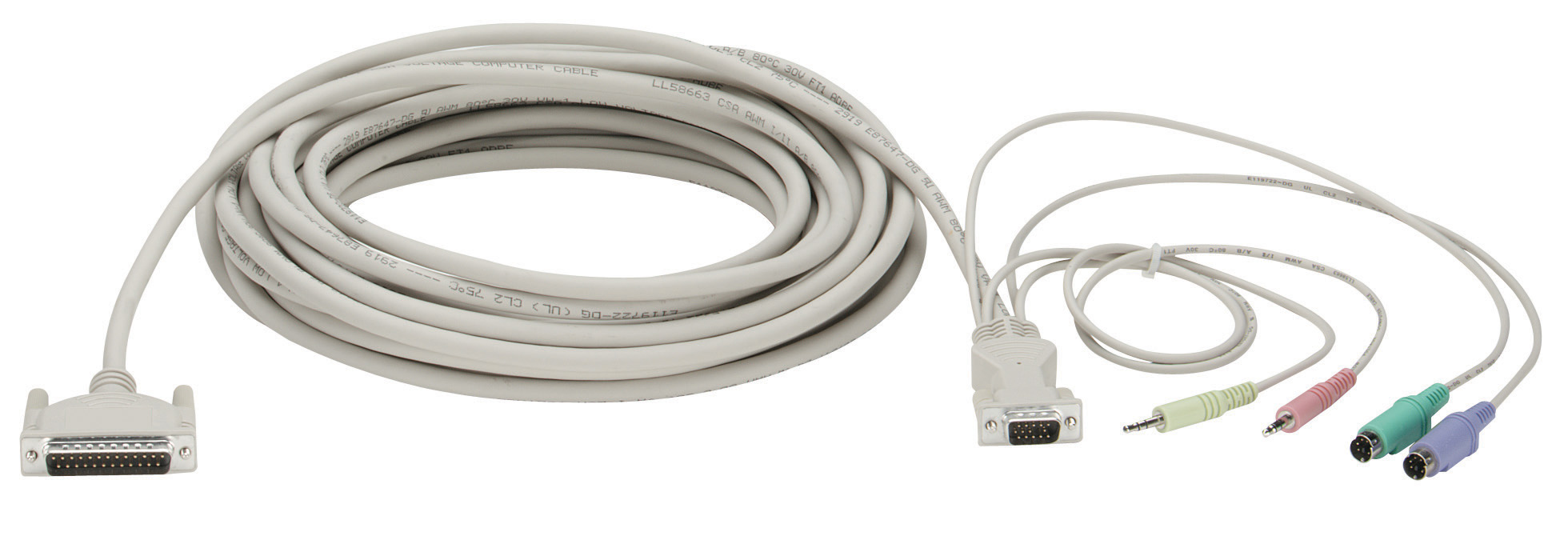 5FT KVM CPU Cable VGA PS2 With Audio | Black Box