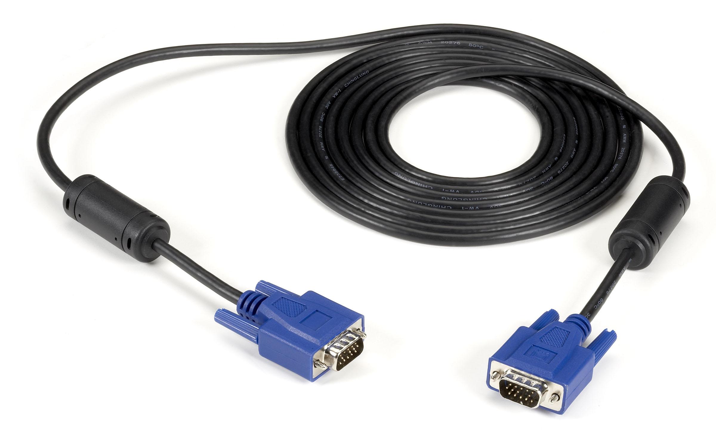 Black Box Network Services Vga Video Cable With Ferrite Core Male//