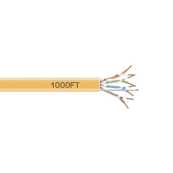 304.8-m Yellow 350-MHz Solid Bulk Cable PVC 1000-ft. Black Box GigaBase 350 CAT5e