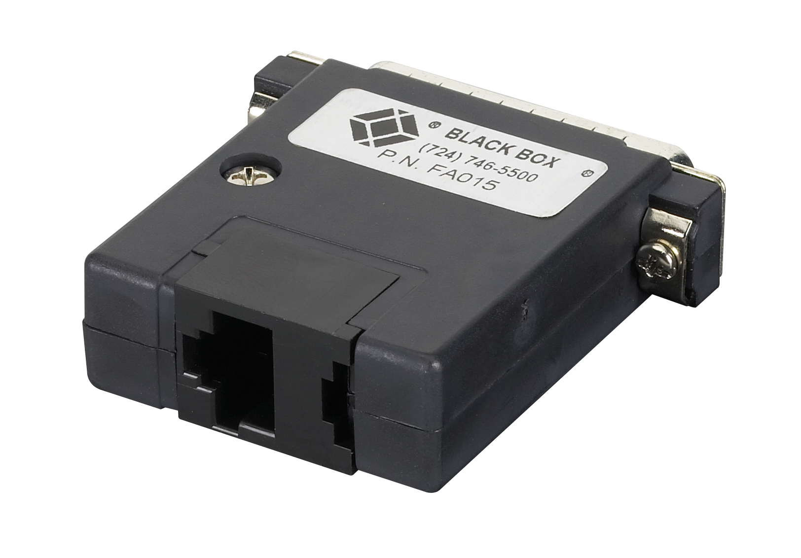 Pre-Wired Modular Adapter DB25 Female To RJ11 4/6-Wire | Black Box