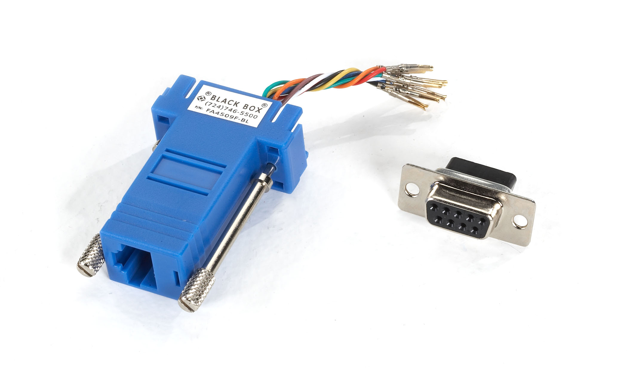 Modular Adapter Kit DB9 Female RJ45 Female Blue | Black Box