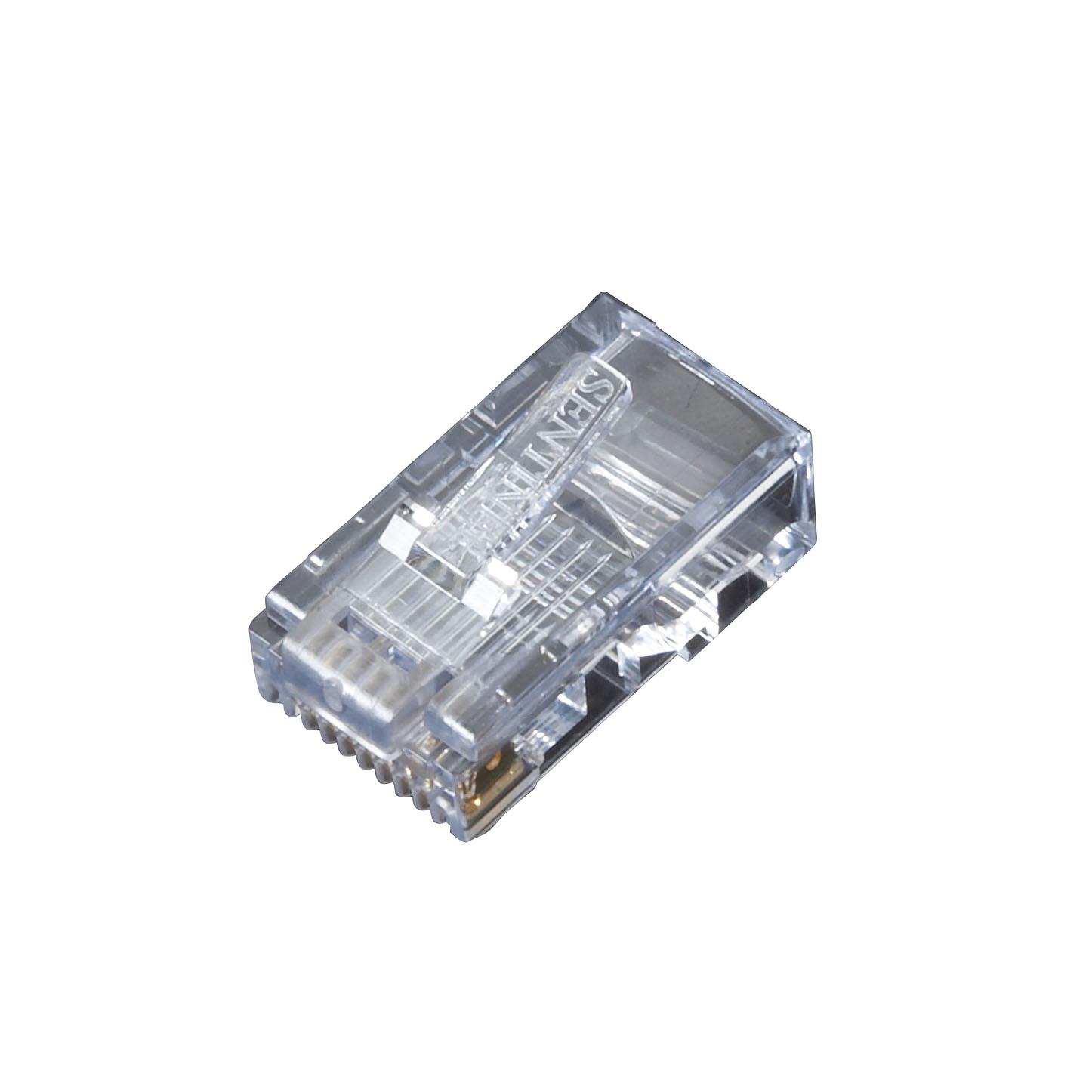 5 Packs of 10 pcs Black Box FM122-R2 10 pcs 8-Wire RJ-45 Snap-On Modular Plug