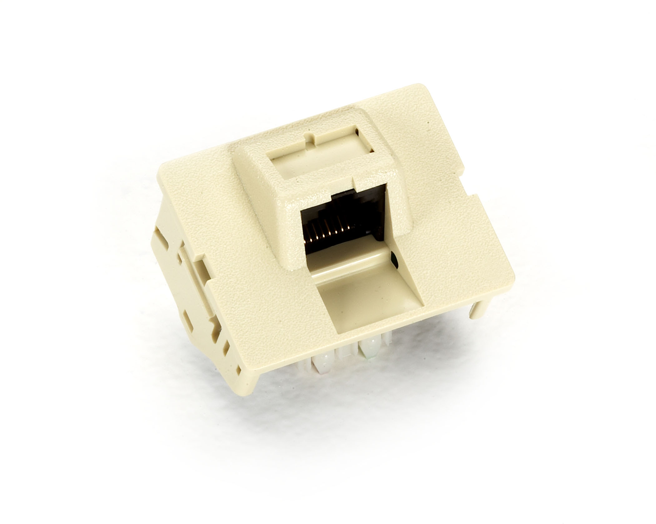 CAT5e Jack Coupler, T568A, Single, Ivory
