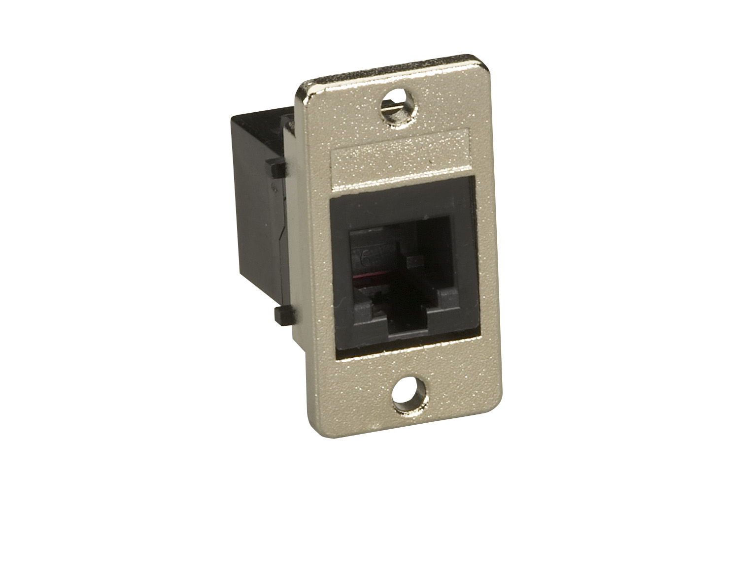 Black Panel Mount Unshielded Coupler Rj11 4 Wire Box Surface Ethernet Wall Jack Wiring Additional Product Image