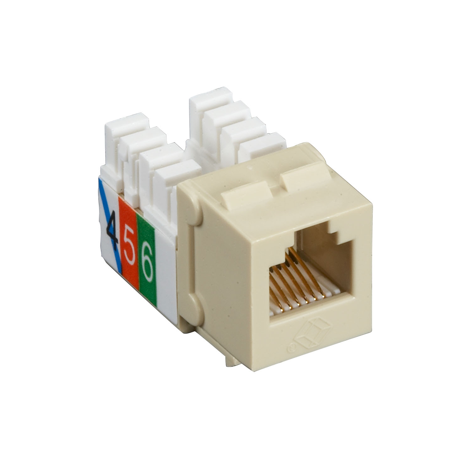 USOC RJ-11 Jack - Ivory, Single-Pack