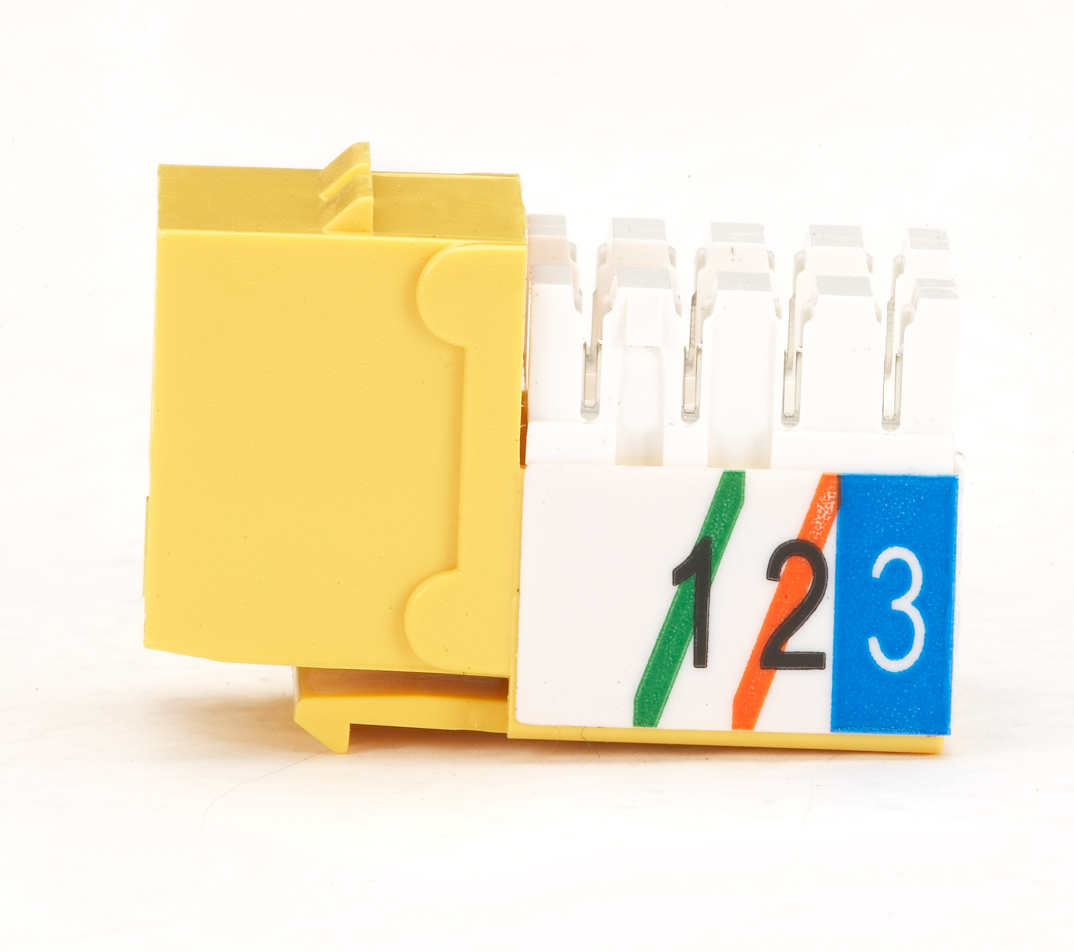 USOC RJ-11 Jack - Yellow, Single-Pack