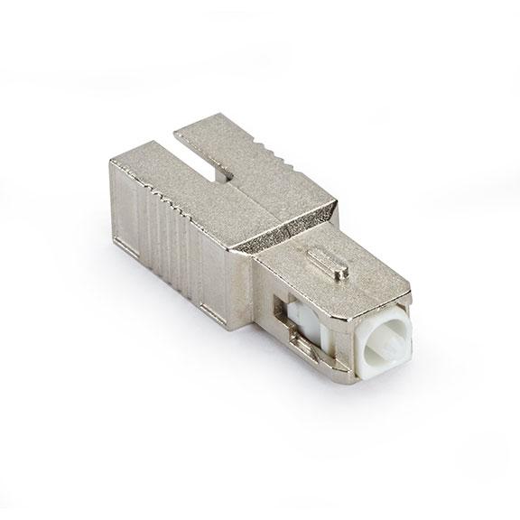 Fiber Optic In-Line Attenuator, Single-Mode, Male/Female, SC, APC, 10 dB