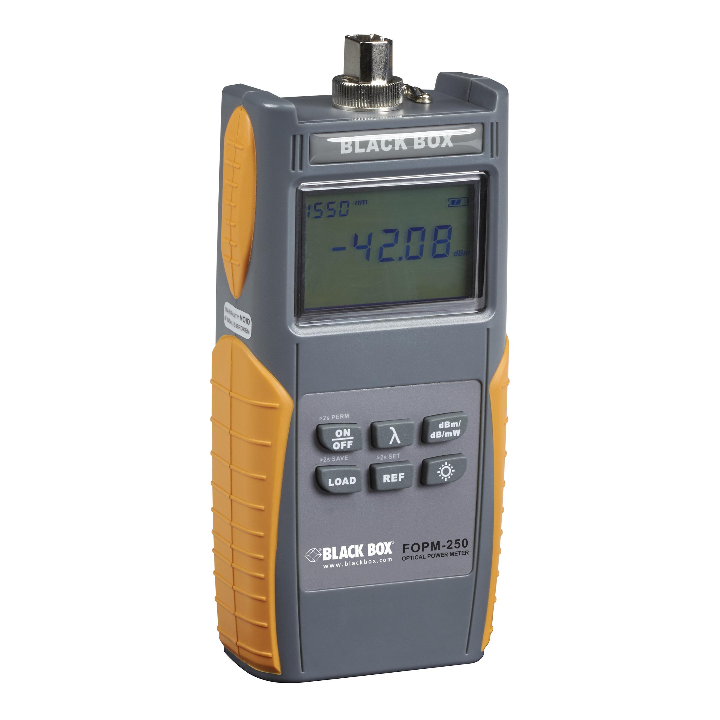Optical Power Meter : Fiber optical power meter to dbm black box