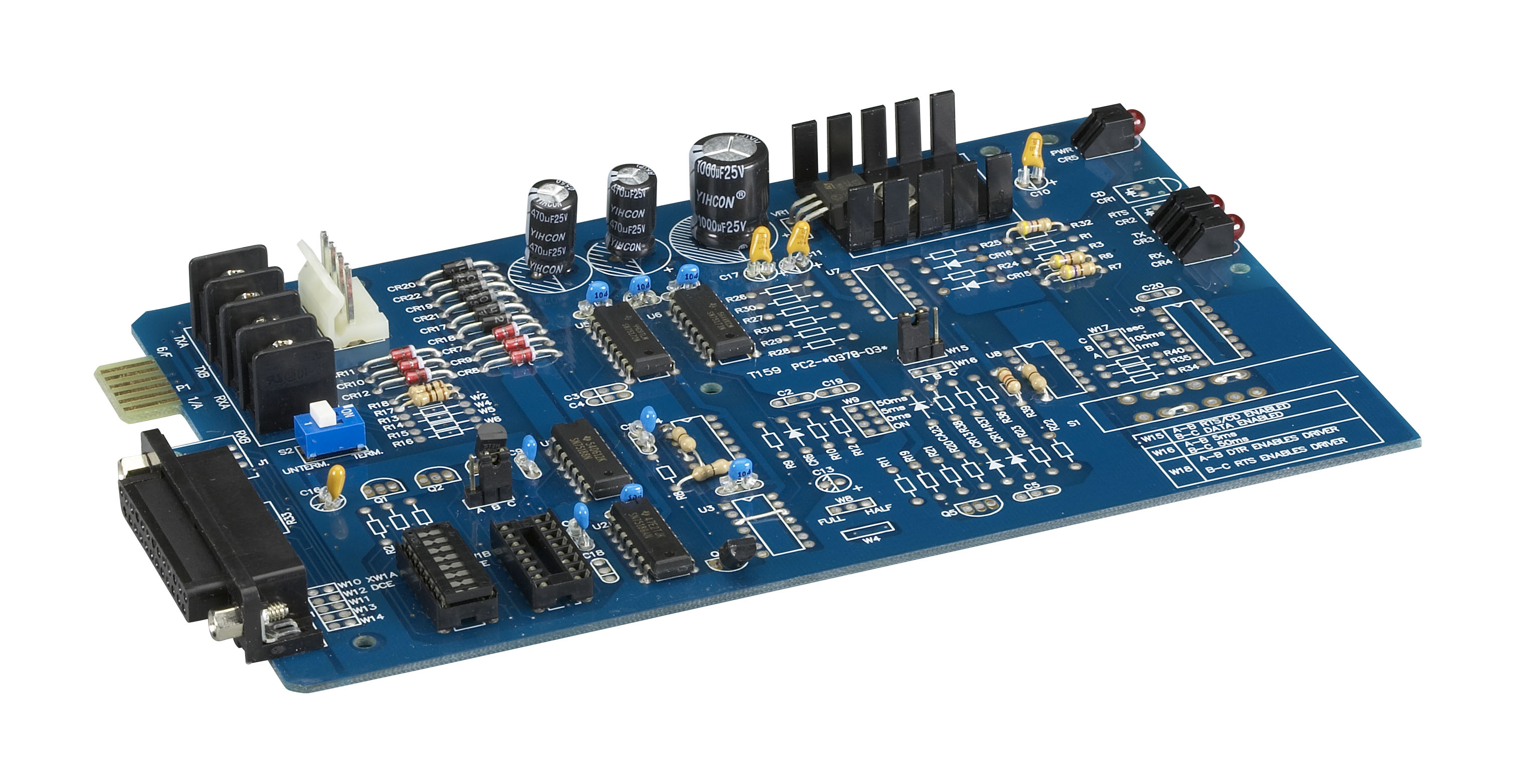 RS-232 to RS-422 Bidirectional Converter, Card